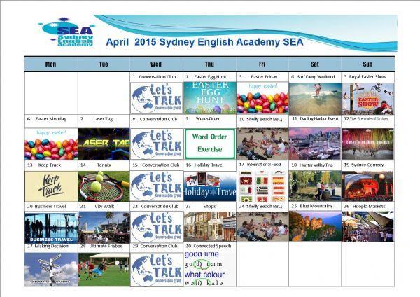 SEA Calendar April 2015