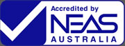 Accredited by neas australia