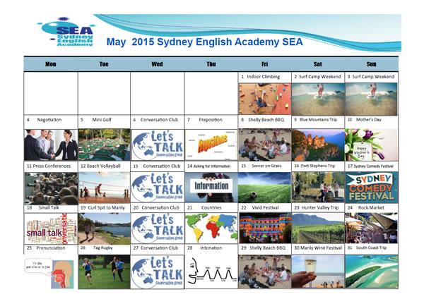 SEA Calendar May 2015