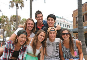 English school students in manly